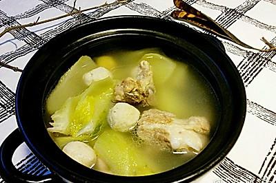 排骨墨鱼丸芥菜头汤