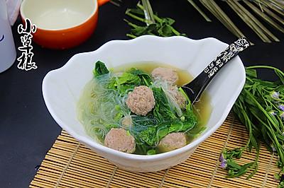 菠菜粉丝肉丸汤