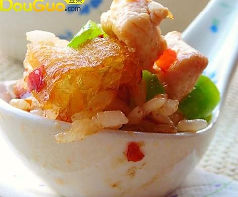 椒香鸡丁油条炒饭