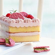 粉粉嫩嫩酸酸甜甜的树莓玉米盒子蛋糕
