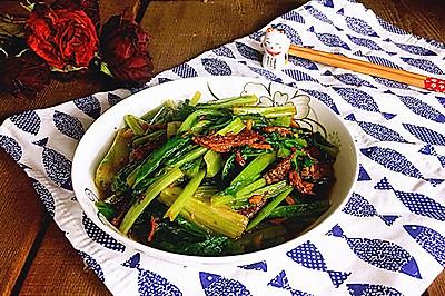 豆豉鲮鱼油麦菜#春天不减肥,夏天肉堆堆#