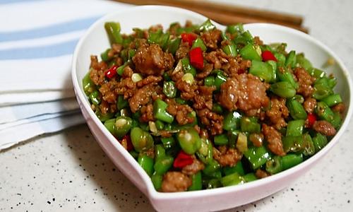 肉沫豆角下饭菜的做法