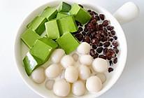 夏日必备小甜品抹茶奶冻白玉丸子的做法