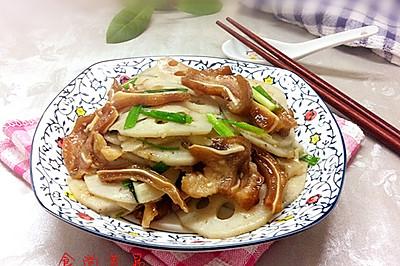 猪耳朵炒藕片