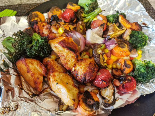 好吃不发胖的烤什锦➕鸡胸肉(空气炸锅)的做法