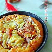 杏鲍菇培根披萨#九阳烘焙剧场#