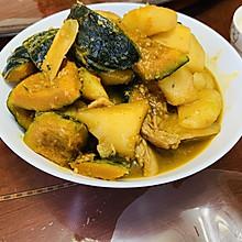 家的味道!浓香下饭的南瓜炖土豆