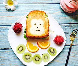小猴子三明治的做法