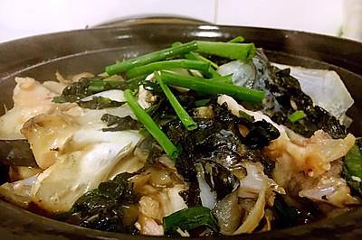 紫苏鱼头煲