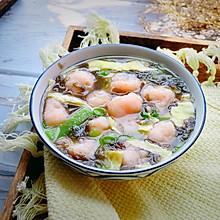 鲜掉眉毛的虾丸汤