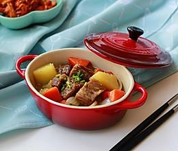 家常牛腩炖土豆#鲜香滋味,搞定萌娃#的做法
