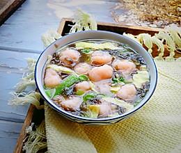 鲜掉眉毛的虾丸汤的做法