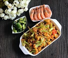 西红柿炒散花菜的做法