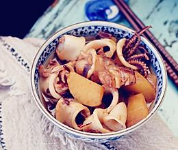 土豆酱焖鱿鱼的做法