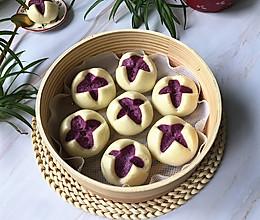 #人人能开小吃店#紫薯开花馒头的做法
