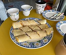 蛋饼三吃的做法