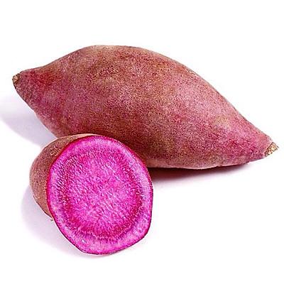 奶香紫薯饼的做法 步骤1