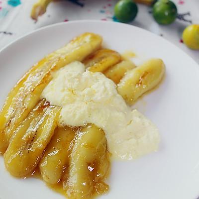 黄油煎香蕉+冰激凌