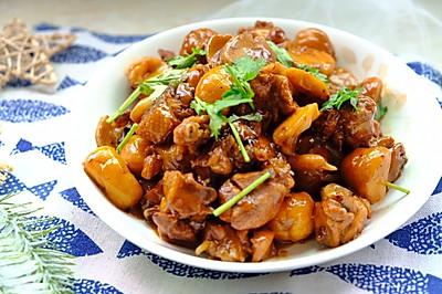 板栗鸡块,超级好吃的下饭菜。