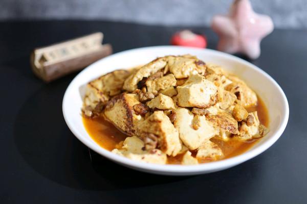 萝卜干烧豆腐的做法