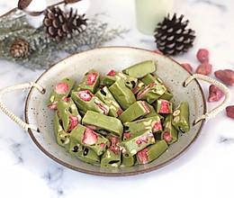 草莓抹茶牛轧糖#令人羡慕的圣诞大餐#的做法