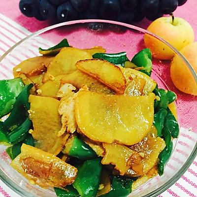 青椒土豆片炒肉