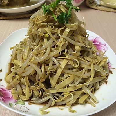 豆芽干豆腐拌菜