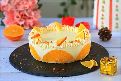 香橙酸奶慕斯蛋糕