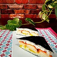 快手寿司三明治#极速早餐#的做法图解6
