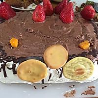 戚风蛋糕8寸方盘--生日快乐(不回缩的简单成功版)的做法图解9