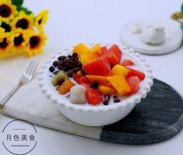 红豆椰浆芋圆水果捞的做法
