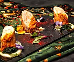 娘惹鸡肉卷佐土豆泥空心菜的做法