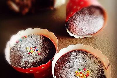 软心巧克力麦芬【巧克力熔岩】