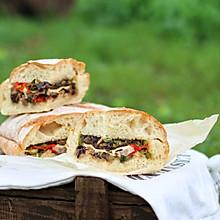 最爱早午餐•布鲁斯酱牛肉烤蔬菜野餐面包