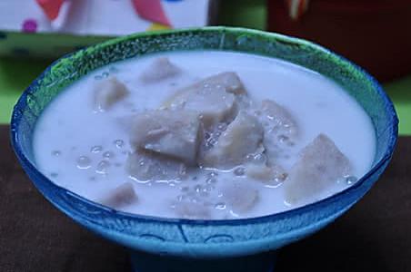 椰汁香芋西米露的做法
