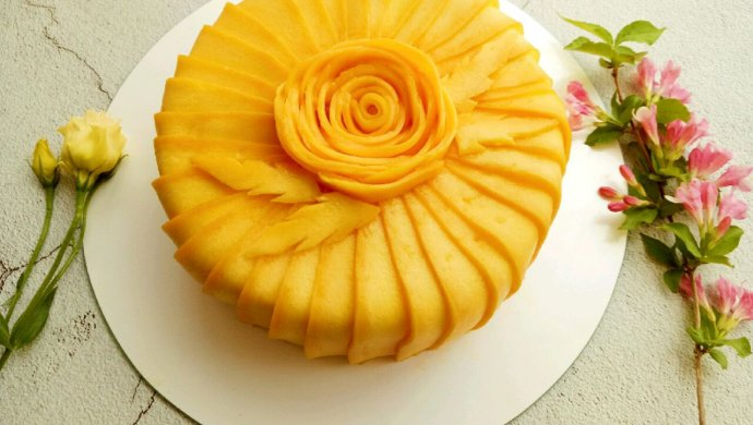 唯美芒果蛋糕#520,美食撩动TA的心!#