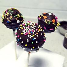 巧克力蛋糕棒棒糖