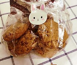 #憋在家里吃什么#低油玫瑰红糖燕麦饼干的做法