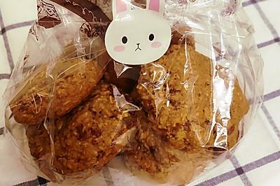 低油玫瑰红糖燕麦饼干