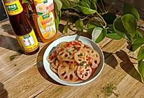 #太太乐鲜鸡汁芝麻香油#凉拌藕片的做法