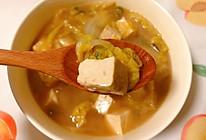 清热解毒暖心暖胃的大白菜炖豆腐的做法