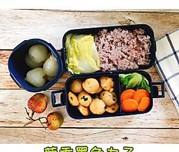 #我们约饭吧#拒绝外卖的第5天—葱香墨鱼丸子糙米饭的做法
