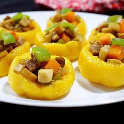 假日养生美食——玉米面时蔬盅