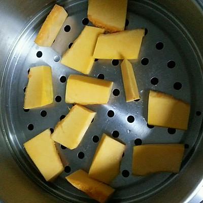 紫薯馅南瓜面包的做法 步骤1