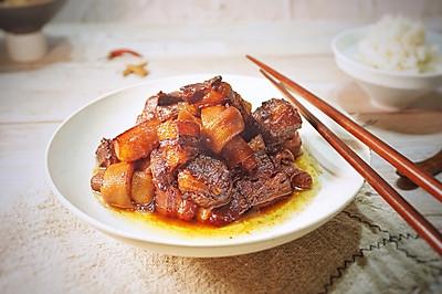冬季必吃的一道硬菜#紅燒肉燉干豆皮卷