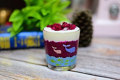 #夏日冰品不能少#火龙果奶昔杯