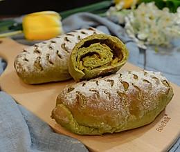 抹茶凤梨全麦面包的做法