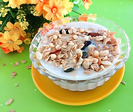 #入秋滋补正当时#坚果燕麦香蕉奶昔的做法