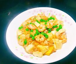豌豆虾仁豆腐的做法