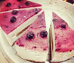 蓝莓慕斯蛋糕(超简易)的做法